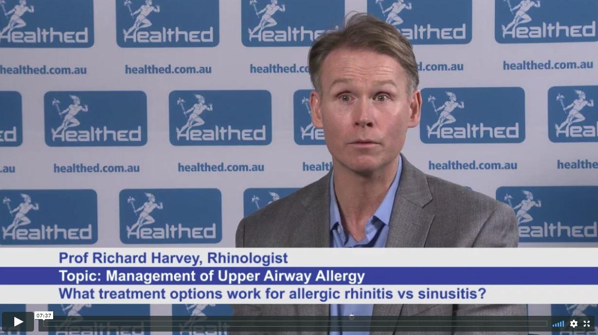 Management of Upper Airway Allergy